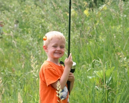 Kids Fishing at Mill Pond